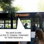 Bus line 21 (Galatas / Kalamaki)