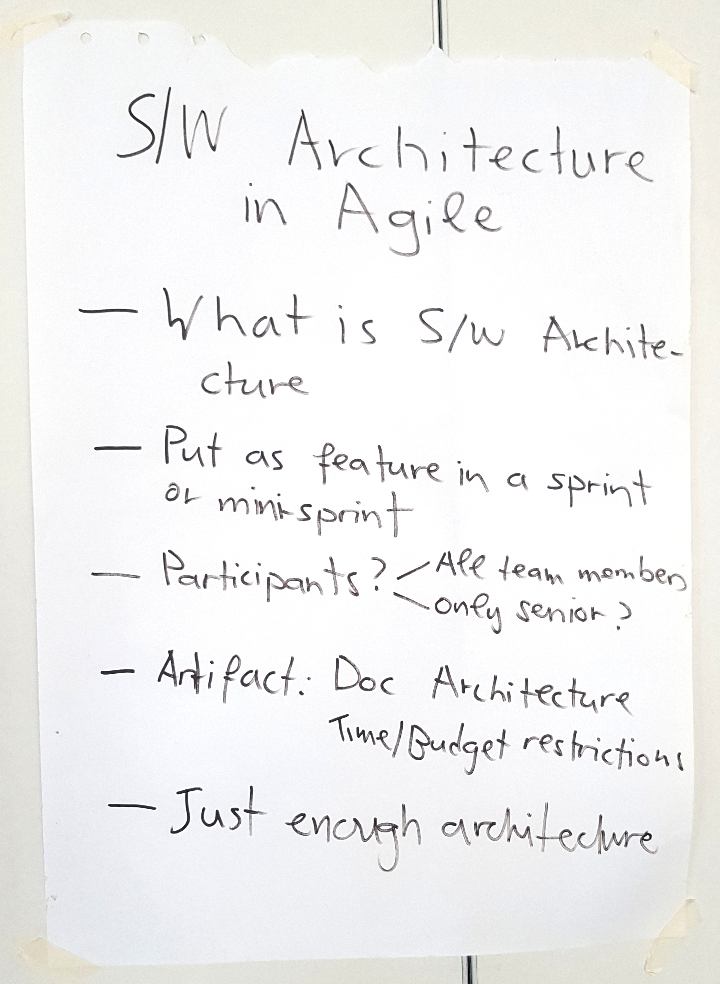 Harvest - Software architecture in an agile world